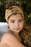 Portrait of a beautiful young girl with head scarf Royalty Free Stock Image