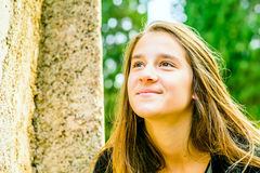 Portrait of a beautiful young Girl Royalty Free Stock Images