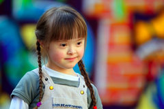 Portrait of beautiful young girl Stock Photos