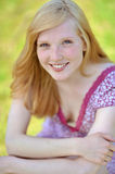 Portrait of a beautiful young girl smiling Stock Image