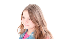 Portrait of the beautiful young girl Royalty Free Stock Photography