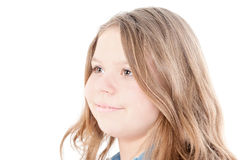 Portrait of the beautiful young girl Stock Image