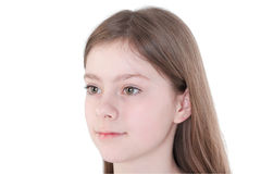 Portrait of the beautiful young girl Royalty Free Stock Image