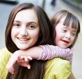 Portrait of beautiful young girls Stock Photography