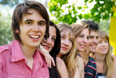 Portrait of a beautiful young guy Royalty Free Stock Image
