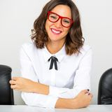 Portrait of a beautiful young happy businesswoman Royalty Free Stock Photo
