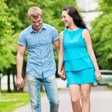 Portrait of a beautiful young happy couple Stock Image