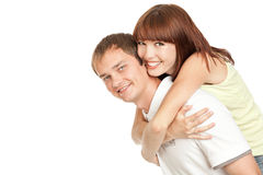 Portrait of a beautiful young happy  couple Royalty Free Stock Photo