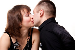 Portrait of a beautiful young happy smiling couple Royalty Free Stock Images