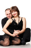 Portrait of a beautiful young happy smiling couple Stock Photography