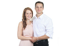 Portrait of a beautiful young happy smiling couple Royalty Free Stock Image