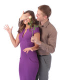 Portrait of a beautiful young happy smiling couple Stock Images