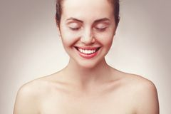 Portrait of beautiful young happy smiling woman Stock Image