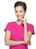 Portrait of a beautiful young happy smiling woman Royalty Free Stock Image