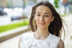 Portrait of beautiful young happy woman Stock Photography