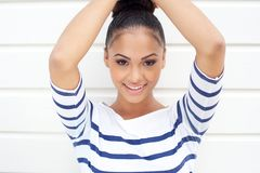 Portrait of a beautiful young latin women smiling Stock Photo