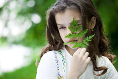 Portrait of a beautiful young little girl Royalty Free Stock Images