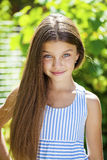 Portrait of a beautiful young little girl Stock Photography