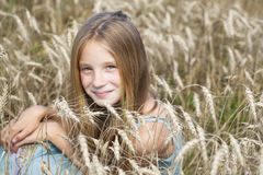 Portrait of a beautiful young little girl Stock Photo
