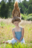 Portrait of a beautiful young little girl Stock Image
