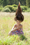 Portrait of a beautiful young little girl Royalty Free Stock Photos
