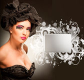 Portrait beautiful young luxury woman Royalty Free Stock Photo