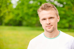 Portrait of beautiful young man Royalty Free Stock Image