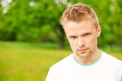 Portrait of beautiful young man Stock Photos