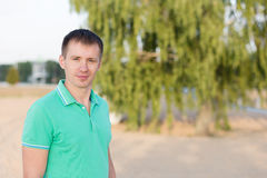 Portrait of beautiful young man Stock Images