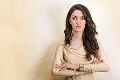 Portrait Of Beautiful Young Mediterranean And Middle Eastern Bru Stock Photo