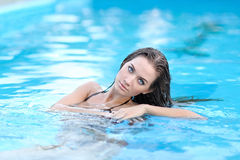 Portrait of a beautiful young model Stock Images