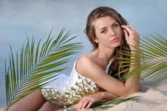 Portrait of a beautiful young model Royalty Free Stock Photo