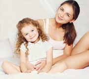 Portrait of beautiful young mother and daughter Stock Image