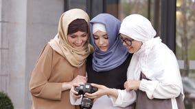 Portrait of Beautiful Young Muslim Girl stock video