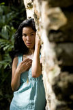Portrait of beautiful young Pacific Islander woman Stock Images