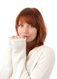 Portrait of a beautiful young redhead woman Royalty Free Stock Photo