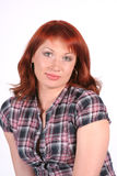 Portrait of beautiful young redheaded woman Stock Images
