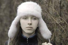 Portrait of beautiful young sad woman Royalty Free Stock Photos