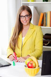 Portrait of a beautiful young secretary Royalty Free Stock Images