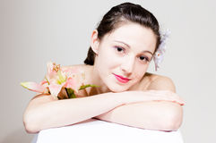 Portrait of beautiful young woman face Royalty Free Stock Images