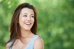 Portrait of beautiful young smiling Royalty Free Stock Photos