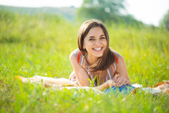 Portrait of a beautiful young smiling girl Royalty Free Stock Photos