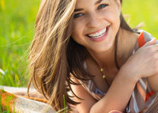 Portrait of a beautiful young smiling girl Royalty Free Stock Image