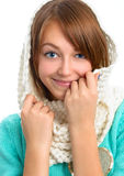 Portrait of a beautiful young smiling girl. Royalty Free Stock Image