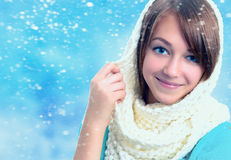 Portrait of a beautiful young smiling girl. Stock Images