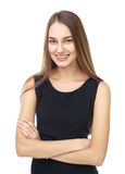 Portrait of beautiful young smiling woman Stock Image
