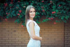 Portrait of beautiful young smiling woman Royalty Free Stock Photos