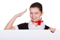 Portrait of beautiful young stewardess Royalty Free Stock Photo