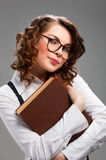 Portrait of a beautiful young student girl Stock Photos