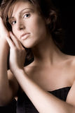 Portrait of a beautiful young tall woman royalty free stock photo